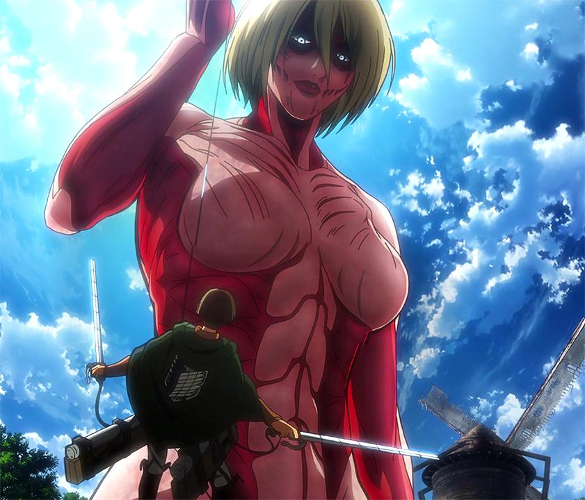 Shingeki no Kyojin Annie Titan Wallpaper as The Female Titan Heads