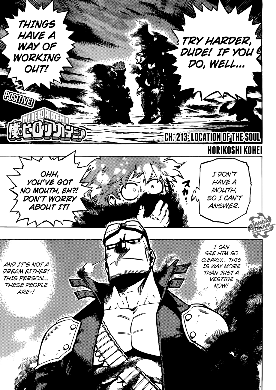 My Hero Academia Chapter 213 Review – The Soul's Whereabouts – Otaku